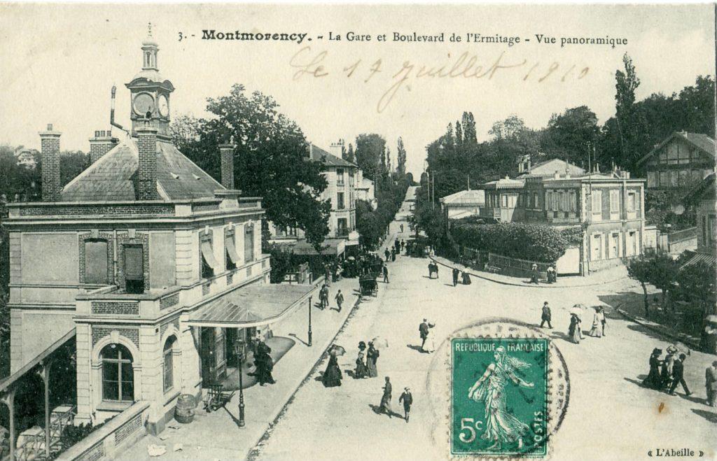 La gare de Montmorency et son Boulevard