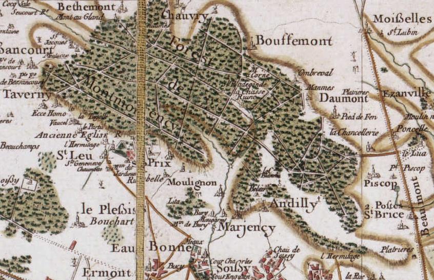Plan de la forêt de Montmorency